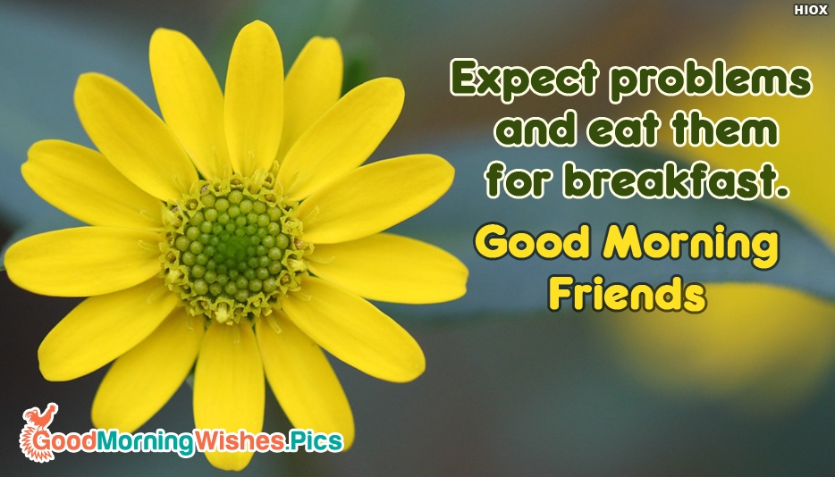 Expect Problems And Eat Them For Breakfast. Good Morning Friends - Good Morning Images for Friends