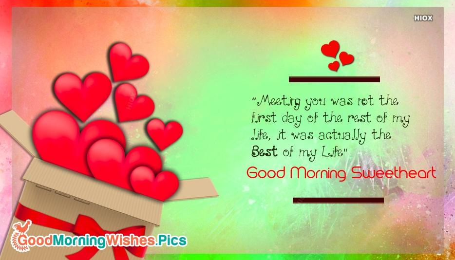 Good Morning Images for Sweetheart