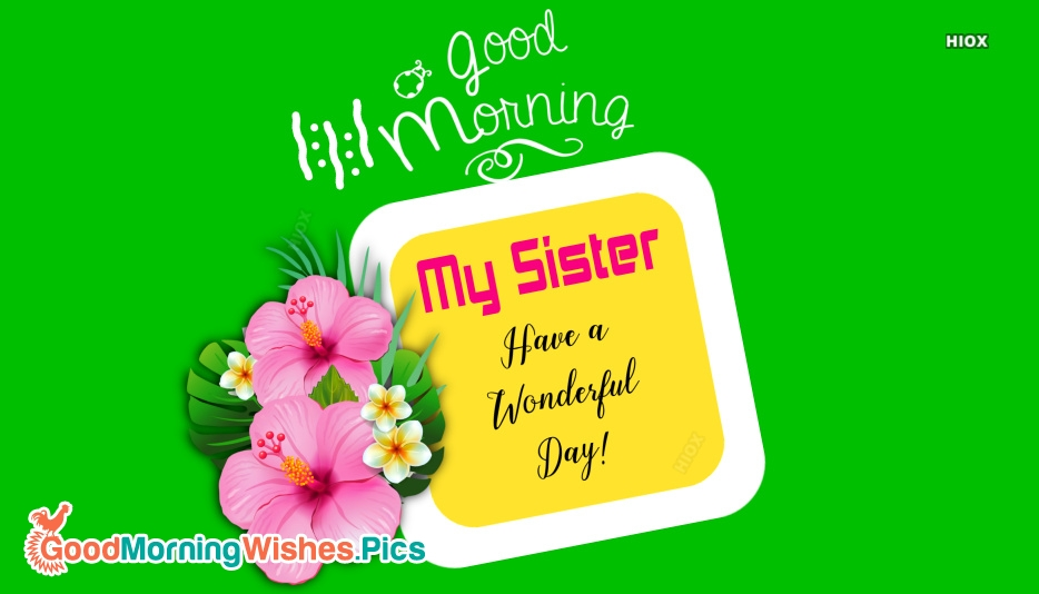 Good Morning Flowers Sister Goodmorningwishes Pics