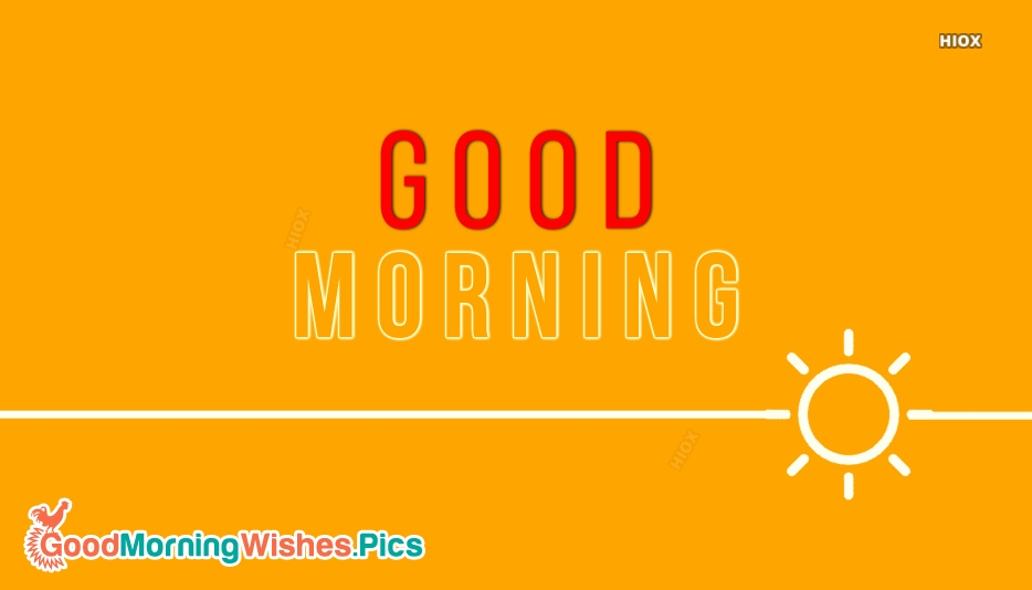 Good Morning Words Images