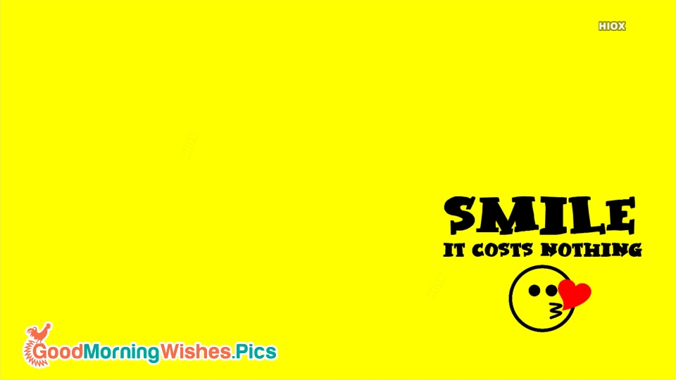 Smile Quote For Happy Morning