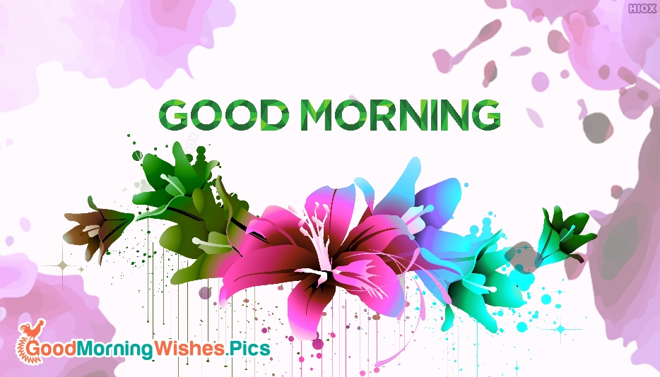 Sweet Flower Image Good Morning