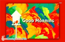 Colorful Good Morning Greetings for Whatsapp