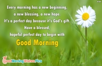 Every Morning Has A New Beginning,