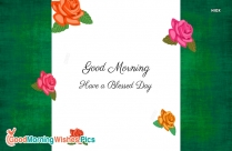 good morning images with orange roses