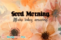 Happy Morning Quote | Set A Goal That Makes You Want To Jump Out Of Bed In The Morning