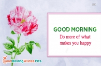 Good Morning Pink Flowers Images