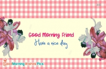 Gud Morning Friend With Rose