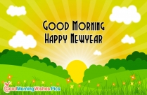 Good Morning Happy New Year SMS