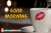 Good morning coffee images with kiss