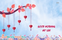 Good Morning Image With Flying Hearts