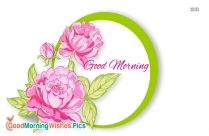 Good Morning image with Pink Rose