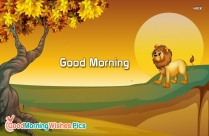 Good Morning Wishes Pictures with Tree Images