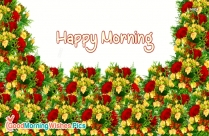 Happy Morning Images With Flowers