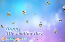 Happy 9th Wedding Day Image