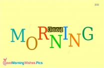 Wishes Good Morning Image
