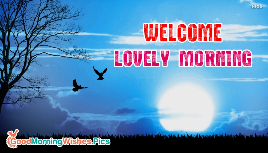 Welcome Lovely Morning - Good Morning Images for Sweet Friend